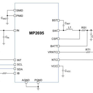 MP2695 – I2C-Controlled, Single-Cell Switching Charger with JEITA Profile